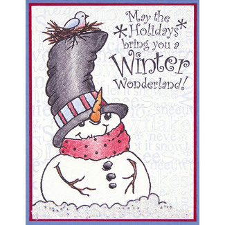 Top Hat Snowman Card3